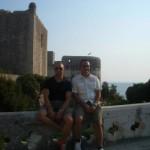 Io e Maurizio nella città vecchia.